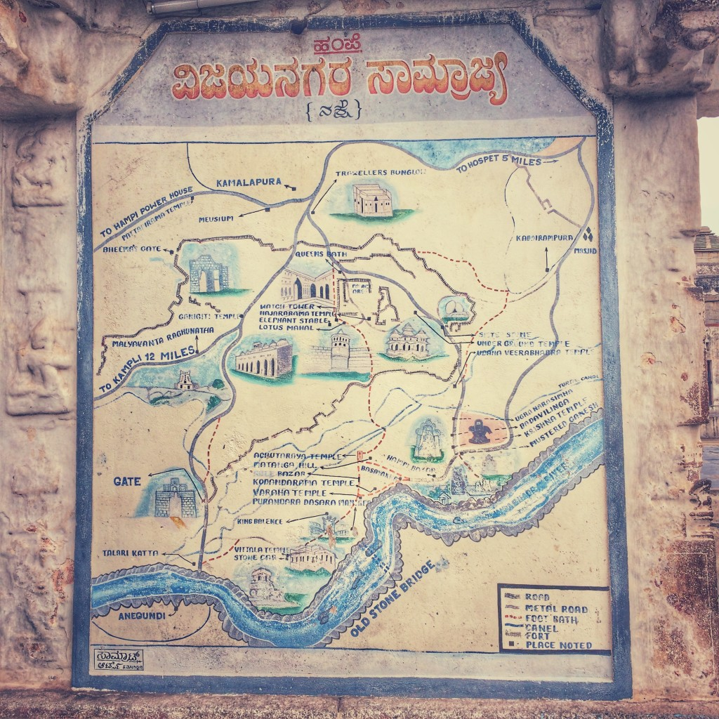 Old Map of Hampi